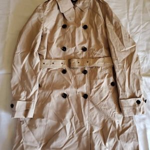 BURBERRY Women's Coat Midi Trench Honey Raincoat